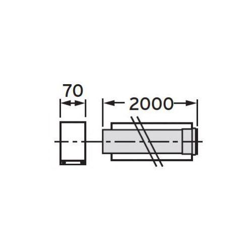Oferta Vaillant Rura przedłużajaca koncentryczna 2,0 m (80/125), PP z kat.: ogrzewanie