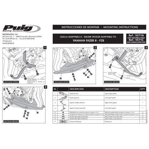 Artykuł Spoiler silnika PUIG do Yamaha FZ8 N/S 10-13 (karbon) z kategorii pozostałe akcesoria motocyklowe