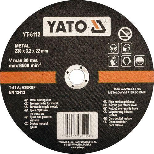 Oferta Tarcza do cięcia metalu 230x3.2x22 mm YT-6112