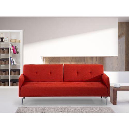 Sofa do spania - kanapa rozkladana - marchewkowa - Lucan, Beliani