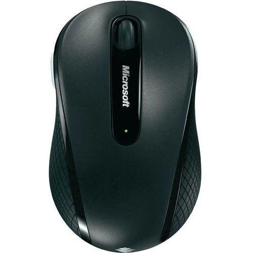 Microsoft Mysz laserowa  4000, bezprzewodowa, 1000 dpi, czarna, BlueTrack, 4 przyciski z kat. myszy, trackballe i wskaźniki
