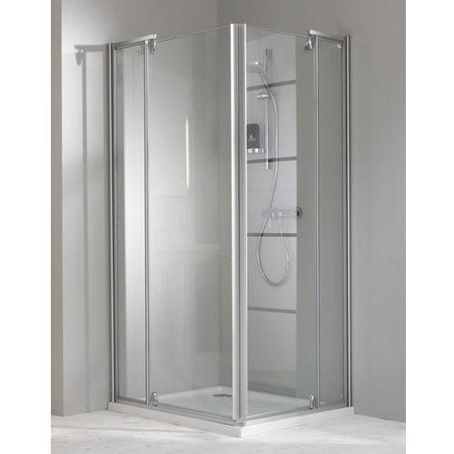 Huppe Classics Elegance Wejście narożnikowe, drzwi skrzydłowe 90x100 cm ze stałym segmentem 4-kąt, Anti-p