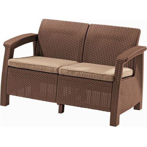 Meble ogrodowe sofa 2-osobowa CORFU brąz