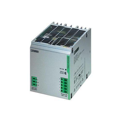 Artykuł Zasilacz na szynę Phoenix Contact TRIO-PS/1AC/48DC/10, 48 V, 10 A z kategorii transformatory