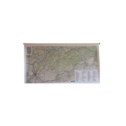 Słowacja mapa ścienna samochodowa 1:400 000  & Berndt, produkt marki Freytag