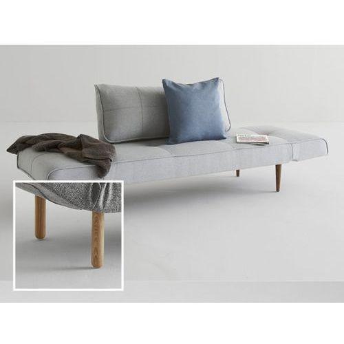 Sofa Zeal szara 552 nogi jasne drewno Stem  740021552-2-740022-1, INNOVATION iStyle