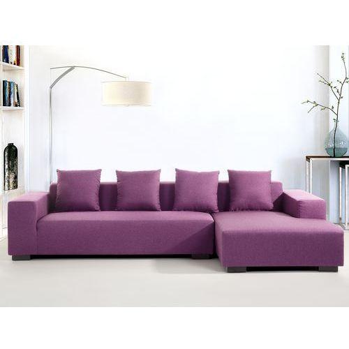 Sofa fioletowa - sofa narozna L - tapicerowana - LUNGO, Beliani