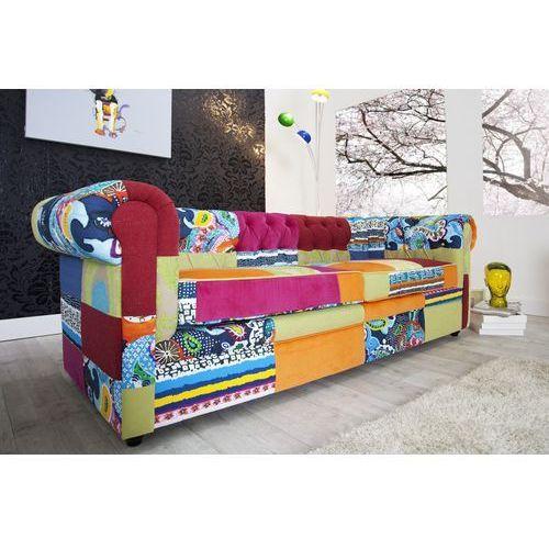 Chesterfield Patchwork Sofa Wielokolorowa Tkanina - i35018, IiNTERIOR