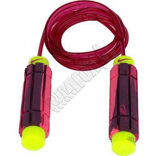 Regulowana skakanka do ćwiczeń -  Speed Rope 2.0, kolor: różowy/fuksja-fluorescencyjny żółty, produkt marki Nike
