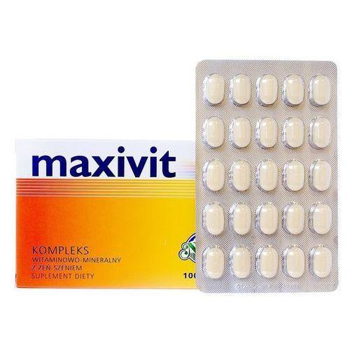 MAXIVIT 100 tabletek, postać leku: tabletki