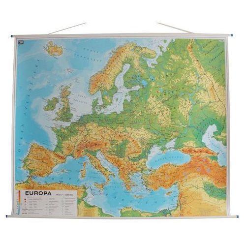 Europa. Mapa ścienna dwustronna fizyczna z nazwami / fizyczna bez nazw (konturowa) 1:3,25 mln wyd. , produkt marki Nowa Era