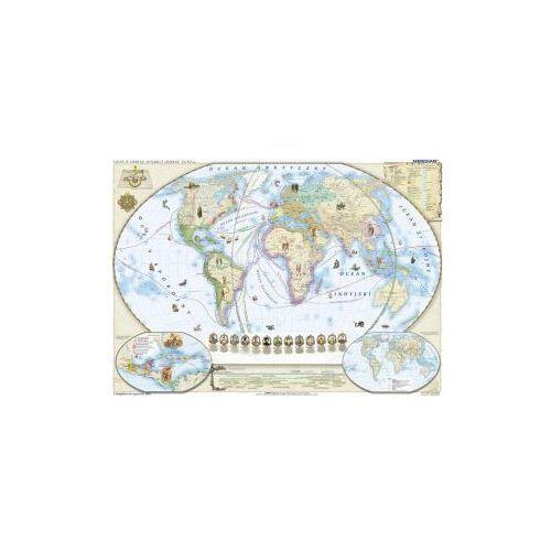 Produkt Świat w okresie wielkich odkryć XV-XVI. Mapa ścienna świata, marki Meridian