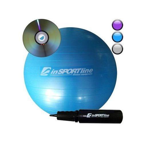 Produkt INSPORTLINE Comfort Ball 65 cm z pompką + DVD IN 3915-3 - Niebieska - Piłka fitness