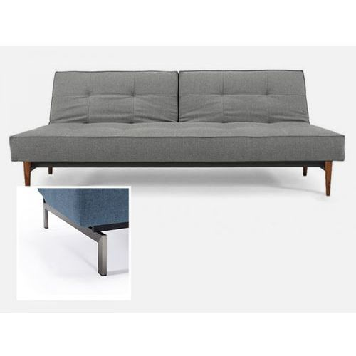 Sofa Splitback szara 216 nogi stalowe  741010216-741010-8-2, INNOVATION iStyle