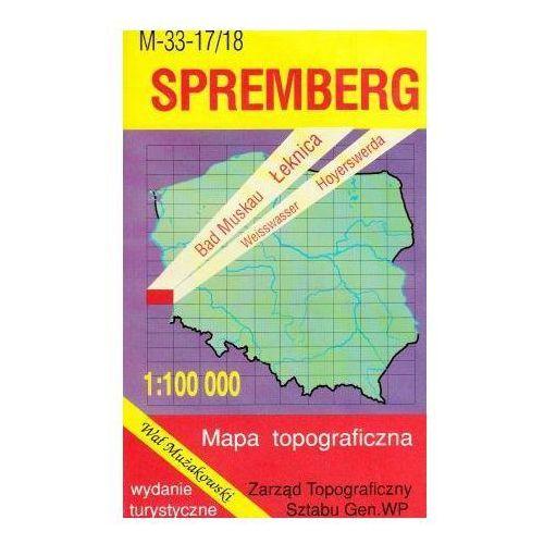 M-33-17/18 Spremberg. Mapa topograficzno-turystyczna 1:100 000 wyd. WZ-Kart, produkt marki Wojskowe Zakłady Kartograficzne