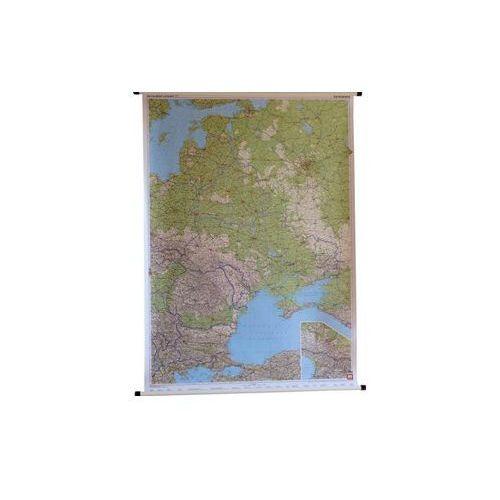 Rosja / Europa Wschodnia mapa ścienna samochodowa 1:2 000 000 / 1:8 000 000  & Berndt, produkt marki Freytag
