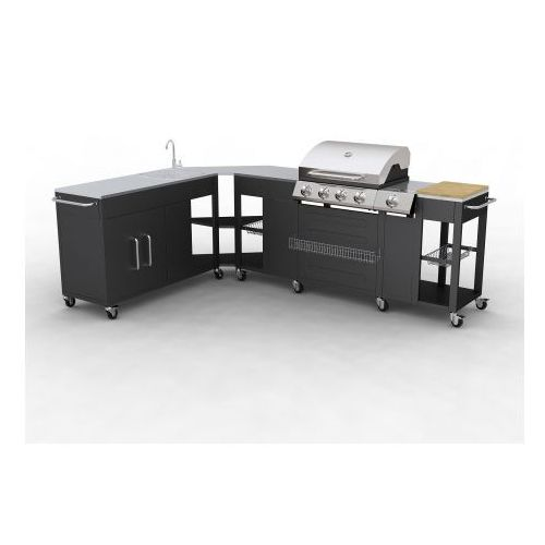 Grill ogrodowy Barbecue Missouri, 4 palniki., produkt marki vidaXL