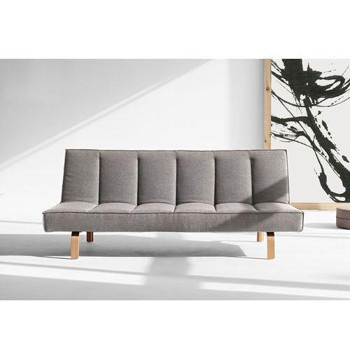 Istyle ODIN WOOD, Sofa Rozkładana, szara tkanina 521, nogi drewniane - 741004521wood