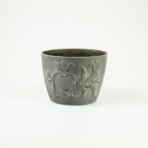 Doniczka lilia Grey Lily wysokość: 12,5 cm 1321-5gl od Fajnedonice.pl