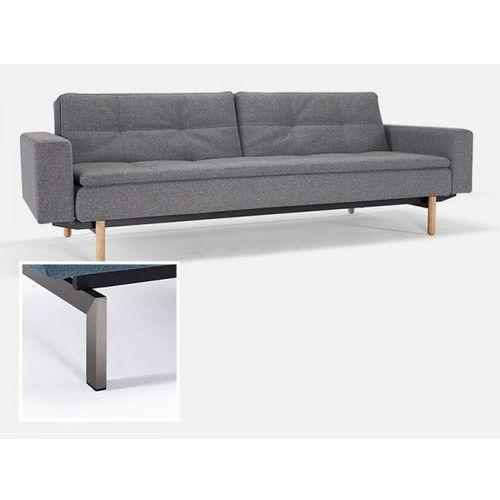 Sofa Dublexo z podłokietnikami szara 563 nogi stalowe  741050020563-741010020-8-2, INNOVATION iStyle
