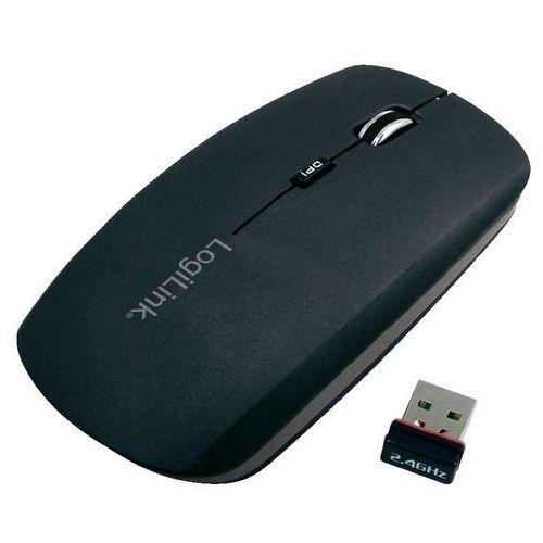 LogiLink Mysz optyczna  ID0051, bezprzewodowa, 1000/1600 dpi, USB Nano Dongle, czarna z kat. myszy, trackballe i wskaźniki