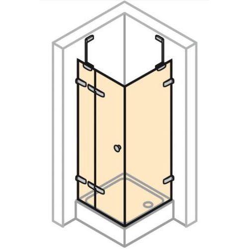 Huppe Enjoy Elegance Drzwi skrzydłowe ze stałym segmentem i ścianką boczną, wykonanie na wymiar - Mocowan