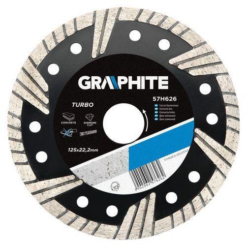 Tarcza do cięcia GRAPHITE 57H628 180 x 22.2 mm diamentowa turbo ze sklepu Media Expert