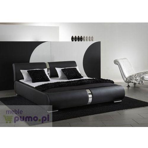 Nowoczesne łóżko tapicerowane NESSA w kolorze czarnym - 200 x 200cm ze sklepu Meble Pumo
