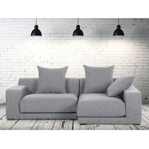 Sofa narozna L - tapicerowana - perlowoszara - CLOUD, Beliani