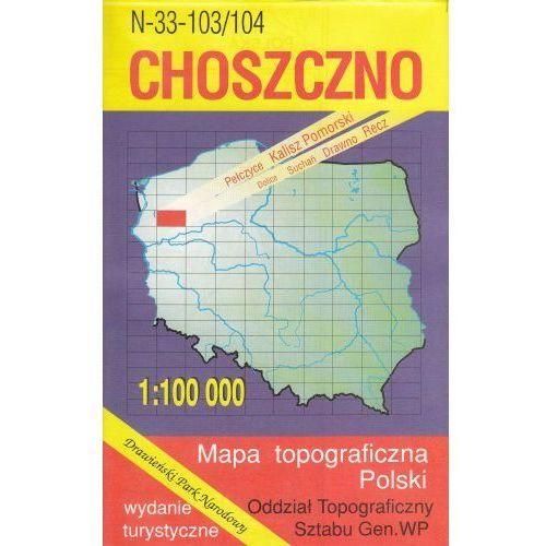 N-33-103/104 Choszczno. Mapa topograficzno-turystyczna 1:100 000 wyd. WZ-Kart, produkt marki Wojskowe Zakłady Kartograficzne