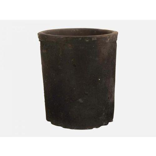 Doniczka Gliniana Cylinder II czarna  1537-24, produkt marki Ib Laursen