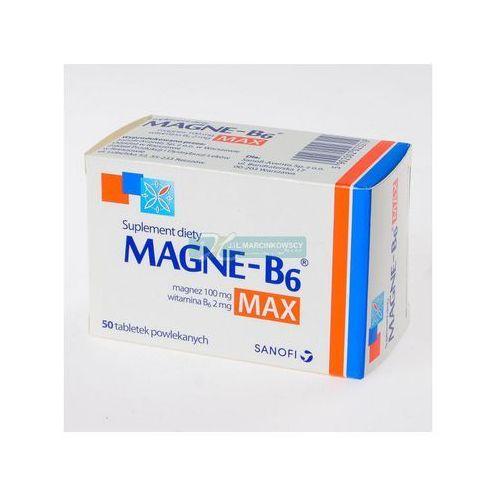 Magne-B6 Max x 50 tabl., postać leku: tabletki