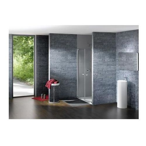Huppe Studio Paris Elegance Drzwi prysznicowe wahadłowe do wnęki - 100/200 chrom mat Szkło Karo Anti-Plaque