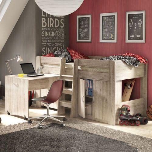 KAROL 2 młodzieżowe łóżko piętrowe wielofunkcyjne ze sklepu Meble Pumo