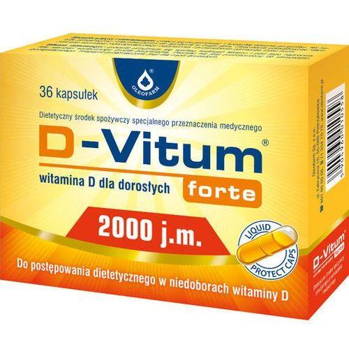 D-Vitum Forte 2000 j.m. Wit. D dla dorosł.x 36kaps, postać leku: kapsułki