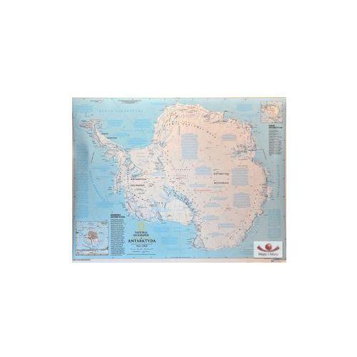 Antarktyda - mapa fizyczna. Mapa ścienna Antarktydy., produkt marki National Geographic