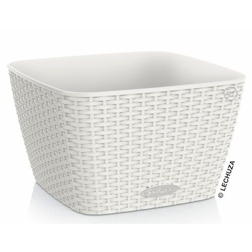 Donica Lechuza Bacino Cottage biała 30x30x18, produkt marki Produkty marki Lechuza