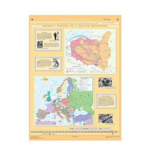 Produkt Polska i Europa po II wojnie Światowej / Rozpad systemu komunistycznego. Mapa ścienna Polski i Europy, marki Nowa Era