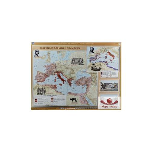 Ekspansja republiki rzymskiej/Rozwój i upadek cesarstwa rzymskiego. Mapa ścienna., produkt marki Nowa Era