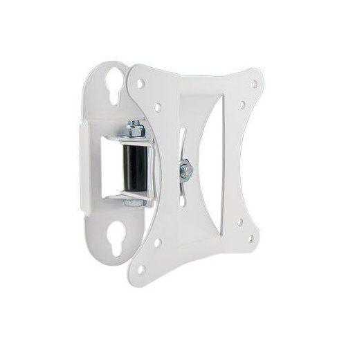 Uchwyt ścienny do lcd 10''-26'' vesa 50/100 uchylny/obrotowy max.15kg biały od producenta 4world
