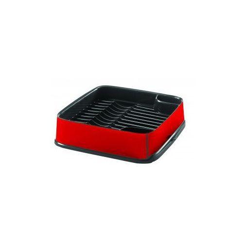 Curver - Suszarka do naczyń kwadratowa w kolorze czerwono - grafitowym - produkt z kategorii- suszarki do naczyń