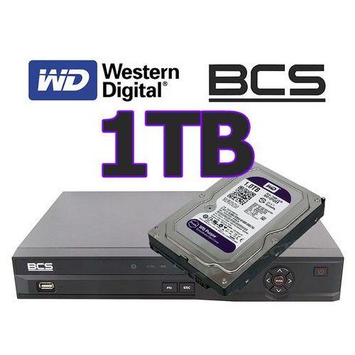 Rejestrator cyfrowy hybrydowy CVI Analogowy IP Sieciowy BCS-CVR0401-III + dysk 1TB