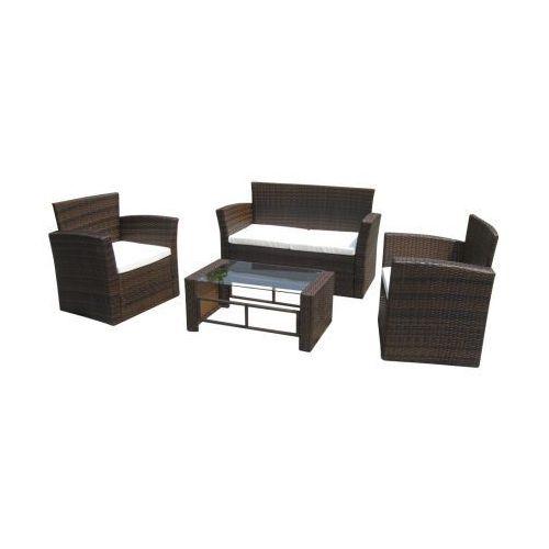 Zestaw mebli ogrodowych z rattanu w kolorze brązowym, 8 elementów., produkt marki vidaXL