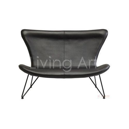 Sofa Miami Black 2-Seater Econo, kare design