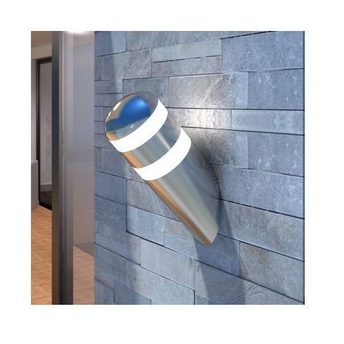 Lampa ścienna LED ze stali nierdzewnej (zewnętrzna i wewnętrzna). z kategorii oświetlenie