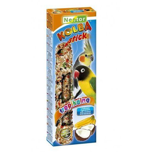 NESTOR Kolba dla średnich papug - TROPIKALNA Z KOKOSEM I BANANAMI (2szt/op)