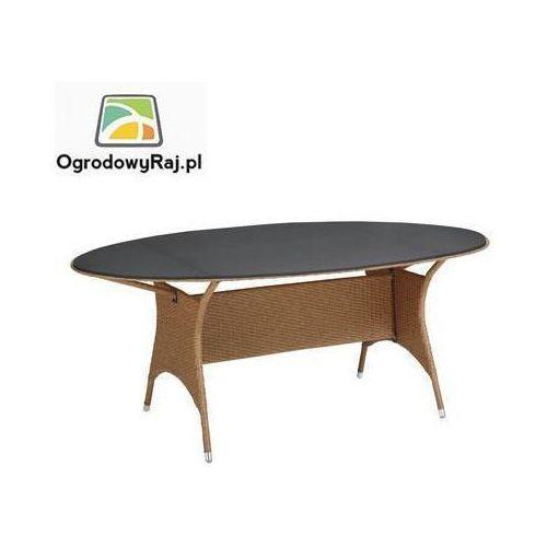 MEDOC Stół owalny 187 cm, lita płyta ze szkła bezpiecznego 0305224-2200 (stół ogrodowy)