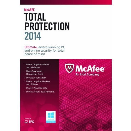 McAfee Total Protection 2014 1 PC licencja na rok - oferta (d589457cb79522ee)