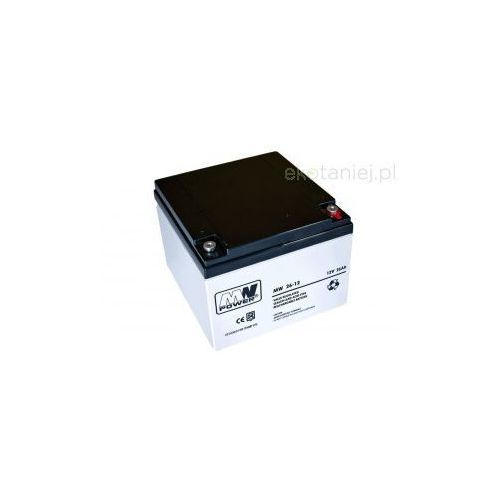 Akumulator MWPower AGM 26Ah 12V z kategorii Pozostałe ogrzewanie