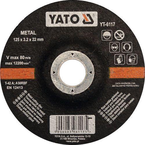 Oferta Tarcza do cięcia metalu, wypukła 125x3.2x22 mm YT-6117